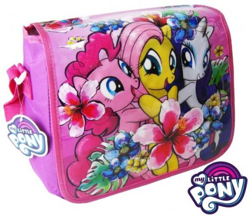 "Official My Little Pony ""Fluttershy, Pinkie Pie & Rarity"" Messenger Shoulder Bag ""Perfect For School"